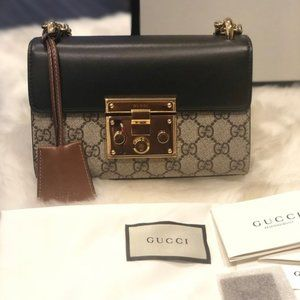 NWT GUCCI Padlock Small GG Shoulder Bag